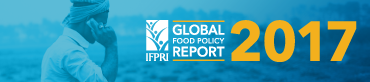 banner of 2017 Global Food Policy Report; links to program website